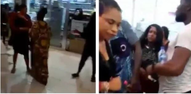 Nigerian lady confronts husband's side chick at the mall (Video)