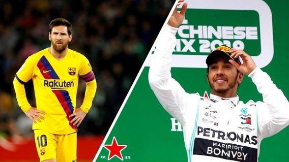 Messi, Hamilton share Laureus Sportsman Award in first ever tie