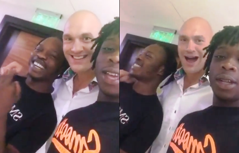 Naira Marley hangs out with Tyson Fury
