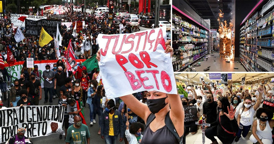 Protest in Brazil over killing of black man