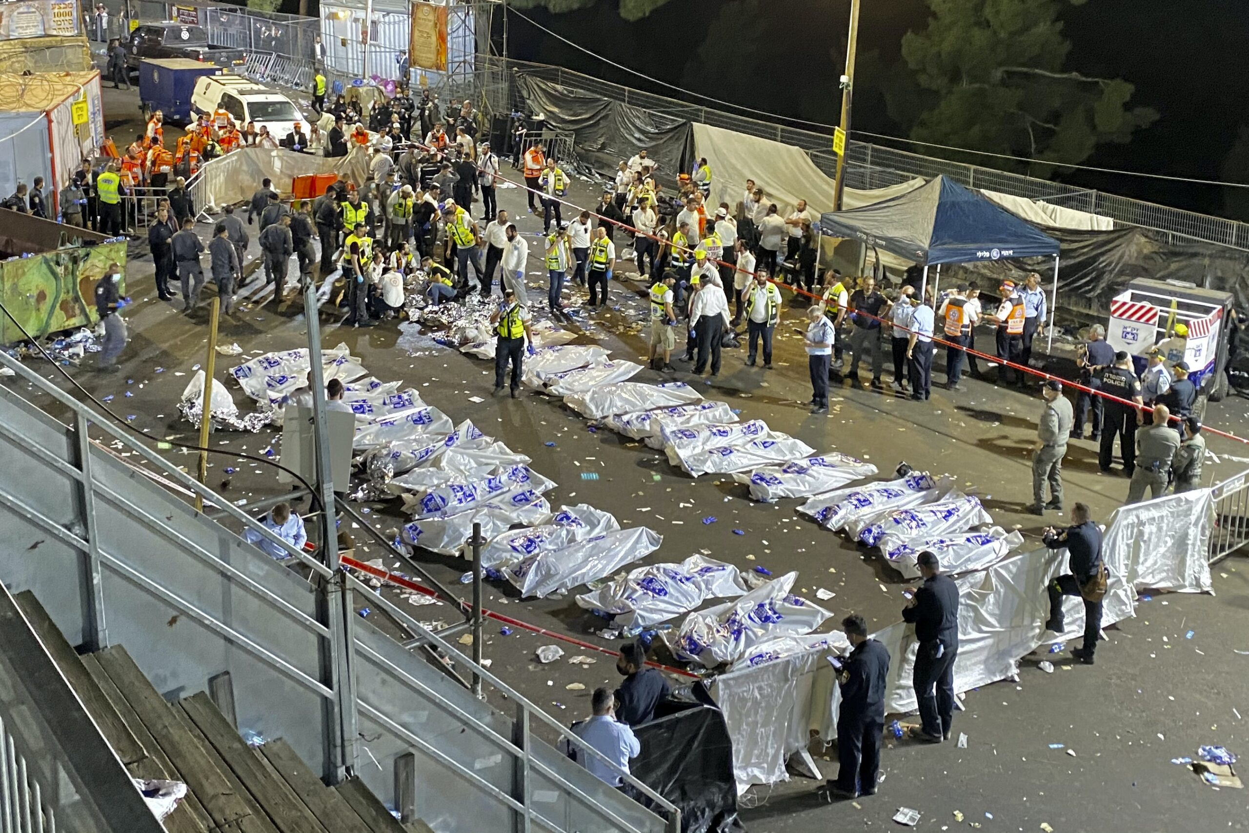 Israel stampede: National day of mourning after at least 45 killed at religious bonfire festival