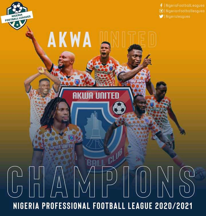 Akwa United wins 2020/2021 NPFL title with one match day to go